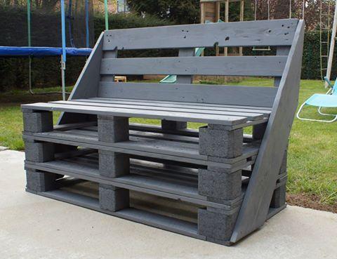 pallet bench outdoor pinterest palette m bel aus paletten und diy. Black Bedroom Furniture Sets. Home Design Ideas