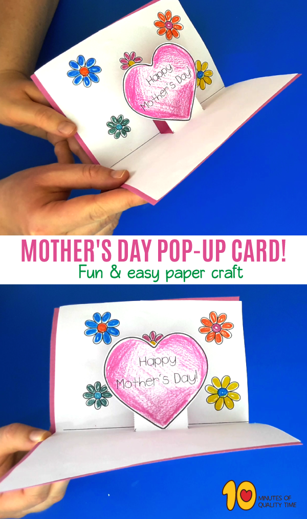 Mother S Day Pop Up Card Mothers Day Crafts For Kids Pop Out Cards Cards
