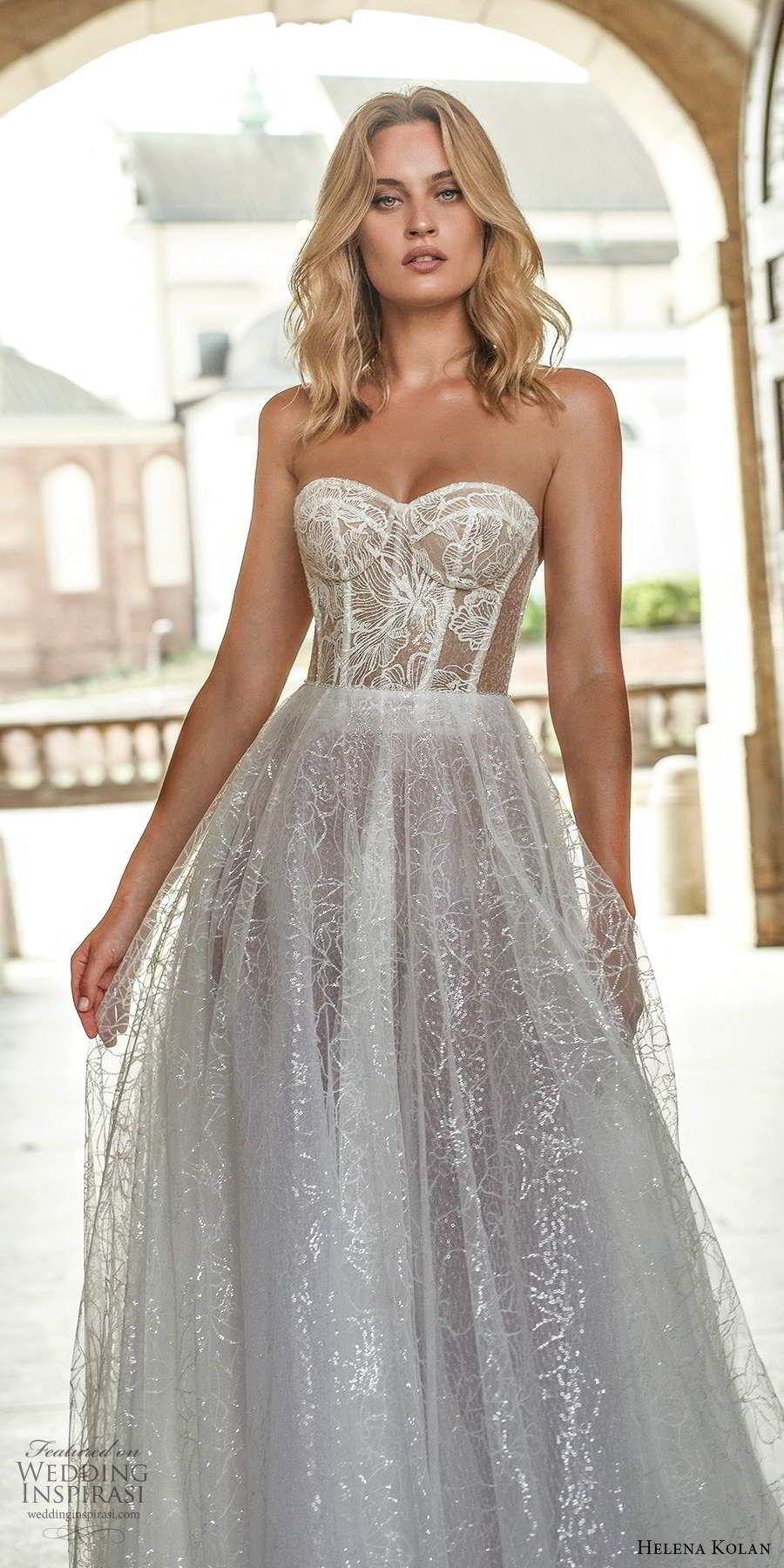 Helena Kolan 2020 Wedding Dresses Forever Bridal Collection Wedding Inspirasi Wedding Dresses Corset Sheer Wedding Dress Wedding Dresses