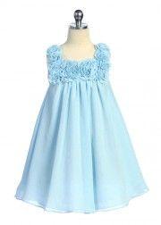 Aqua Simple Elegant Girl Dress