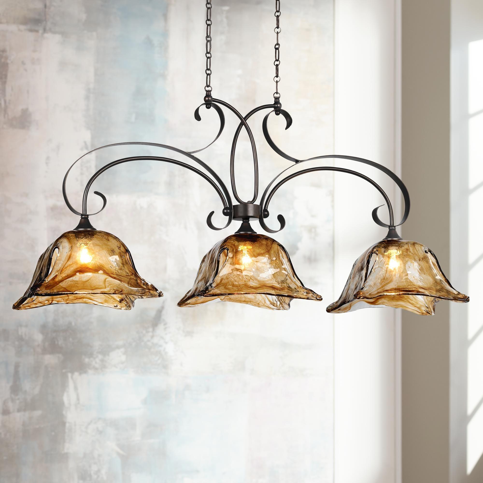 Vetraio 47 W Oiled Bronze Kitchen Island Light Chandelier 18226 Lamps Plus Kitchen Island Lighting Rustic Chandelier Bronze Kitchen