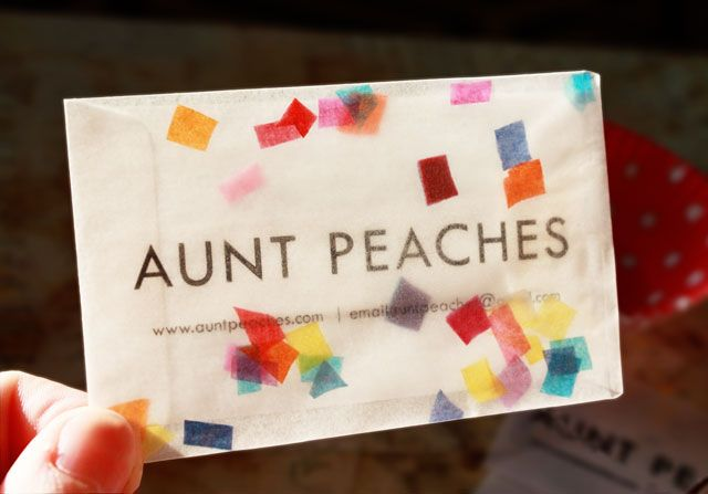 Confetti snow globe business cards globe business aunt peaches aunt peaches confetti snow globe business cards reheart Choice Image
