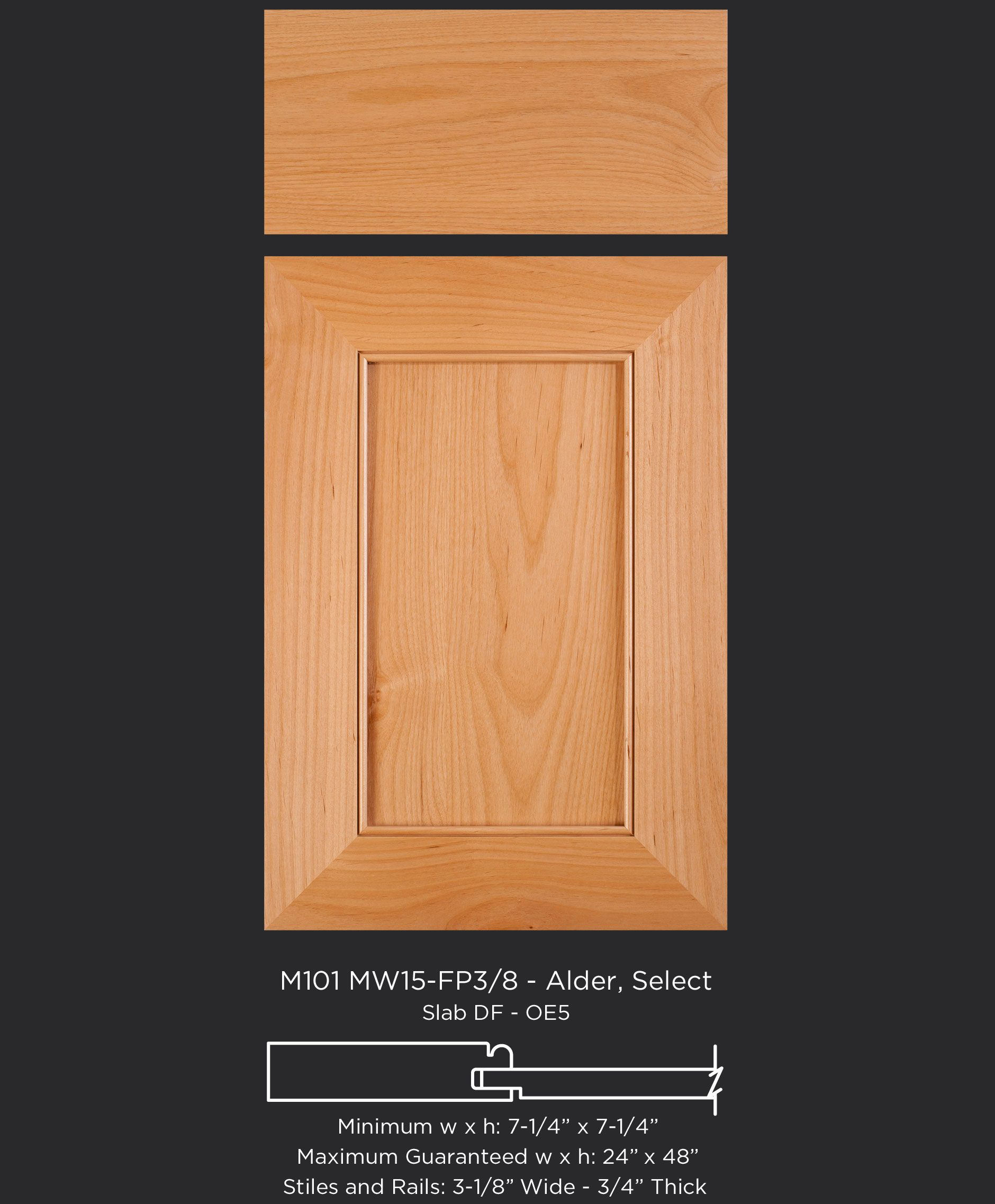 A Modern Twist On The Shaker Door 3 1 8 Wide Frame And Beaded Inside Edge On This Mitered Cabinet Door In Alder By Taylorcraft Cabinet Door Company M101 Mw15