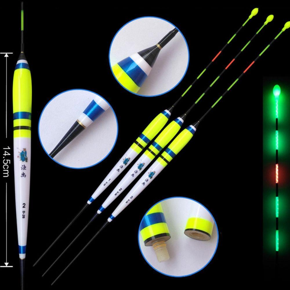 LED Luminous Floats Battery Composite Nano Fishing Float Stopper Bobber Fishing