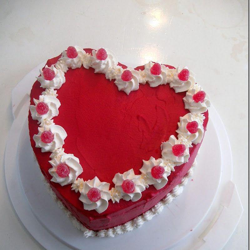 этом торты в виде сердца фото выглядит пляж