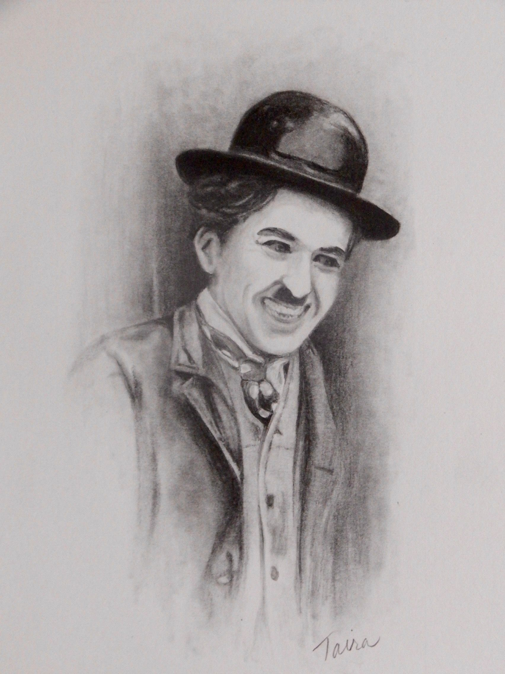 watercolour ink illustration charlieink watercolour the movie alani taira charlie chaplin pencil drawing 4 5