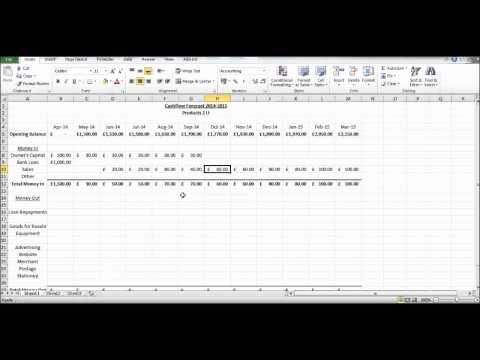 How to Create a Cash Flow Forecast using Microsoft Excel - Basic