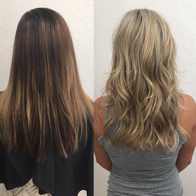 Dark To Light Brown To Blonde Hair Change Brunette To Blonde