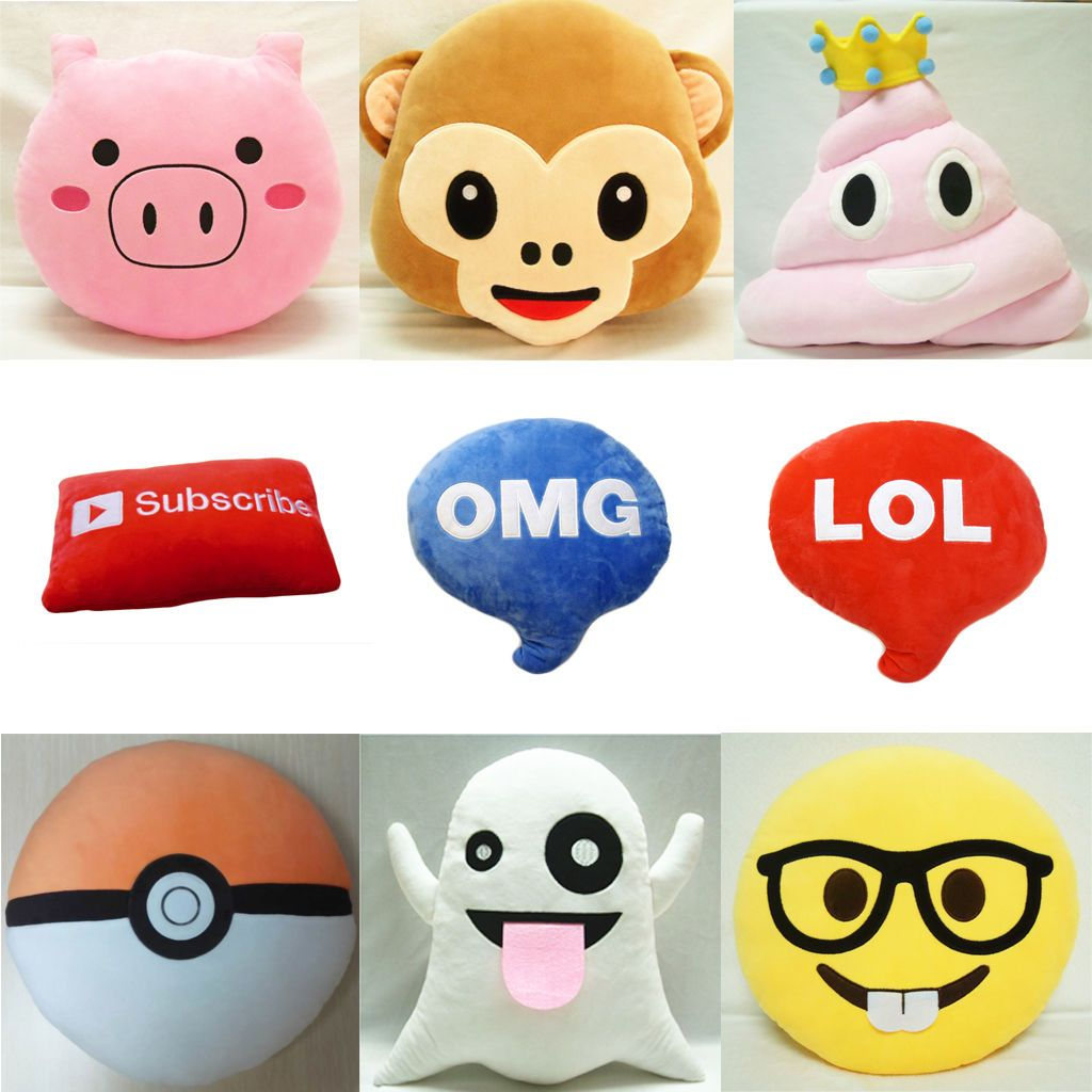 Home decor cute emoticon poo pillow emoji cushion poop stuffed doll
