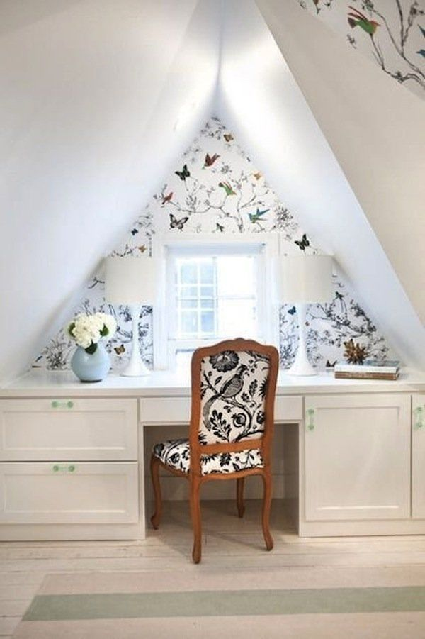 Wonderful Wallpaper in Small Spaces Bedrooms, Attic and Attic ideas