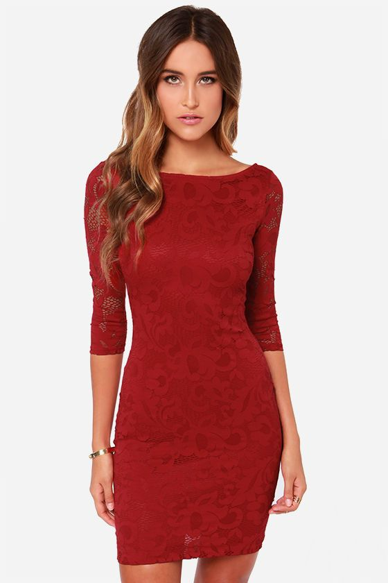 b7ed11a581ae Cool Simple Homecoming Dress <3 <3 LULUS Exclusive Royal Flush Wine Red  Dress at LuLus.com!