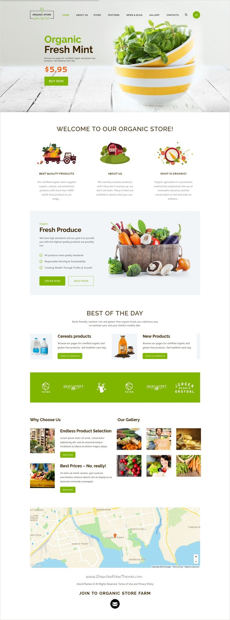 Organic Food Eco Products Site Template Food Web Design Food Website Design Food Design