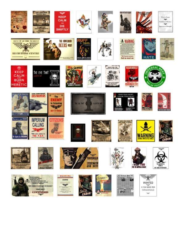 La seconde guerre mondiale Propagande affiches Costume Scales 1//35