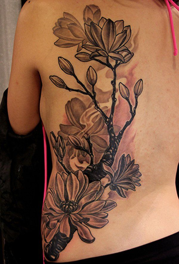 Magnolia Flowers tattoo