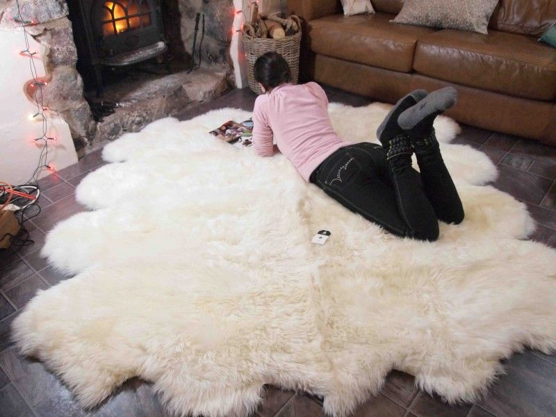 Large Faux Sheepskin Rug Very Soft And