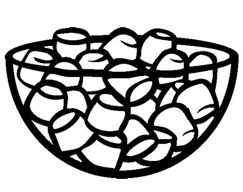 Marshmallows Coloring Page Coloring Pages Color Coloring Pages