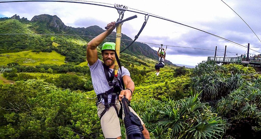 Kualoa Ranch Zipline On Oahu Hawaii Journey Era Ziplining Kualoa Ranch Hawaii Fun