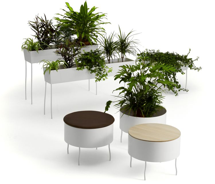 Improving Office Life With Chic Furniture That Integrates Plants