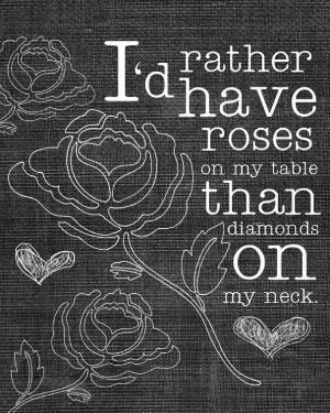Any day of the week. #quotes #prints #roses
