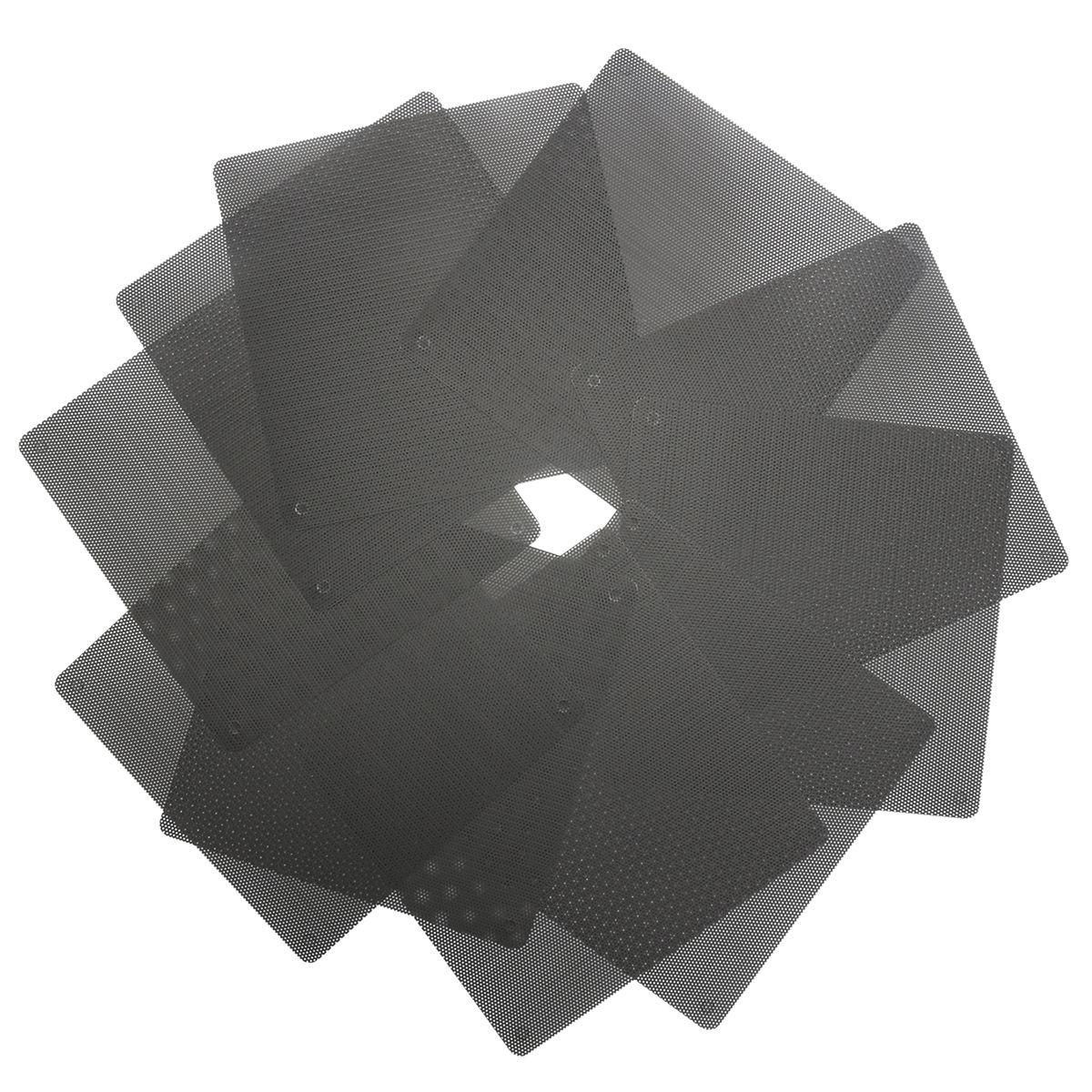 10x Black 140mm Pvc Computer Pc Cooler Fan Case Cover Dust Filter Deepcool Xfan 12cm Casing Mesh Cuttable