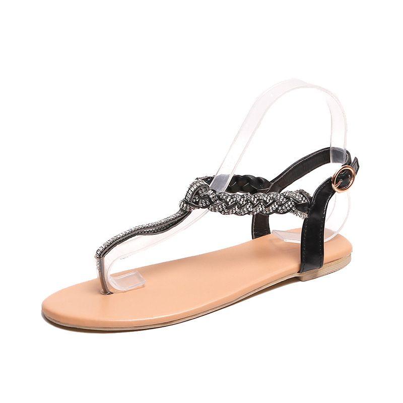 Fashion rhinestone wild sequin flip-flops Roman shoes #wild, #Affiliate, #sequin, #Fashion, #rhinestone #Ad