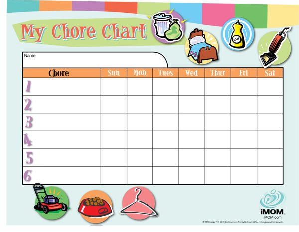 Customizable Chore Chart With Images Chore Chart Kids Chores