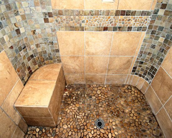 Spaces Shower With Pebble Tiles Design Pictures Remodel Decor And Awesome Bathroom Remodel Albuquerque Decor