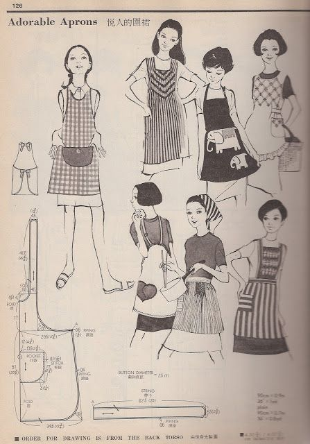 Remnant Gleaning: 1960's and 1970's Japanese aprons