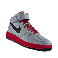 I designed the silver, red and black Seattle Redhawks Nike Air Force 1 Mid  iD