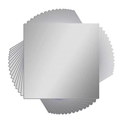 Amazon Com 16 Pcs Flexible Non Glass Acrylic Mirror Sheet Tiles Self Adhesive Plastic Wall Stickers Plastic Mirror Sheets Acrylic Mirror Sheet Acrylic Mirror