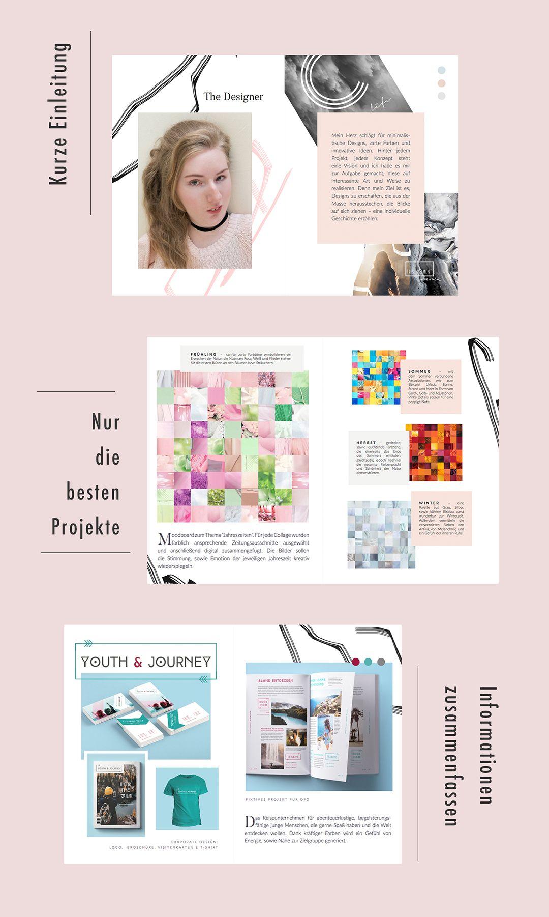 Das Gehort In Ein Aussagekraftiges Portfolio Portfolio Ideen Portfolio Graphic Design Portfolio