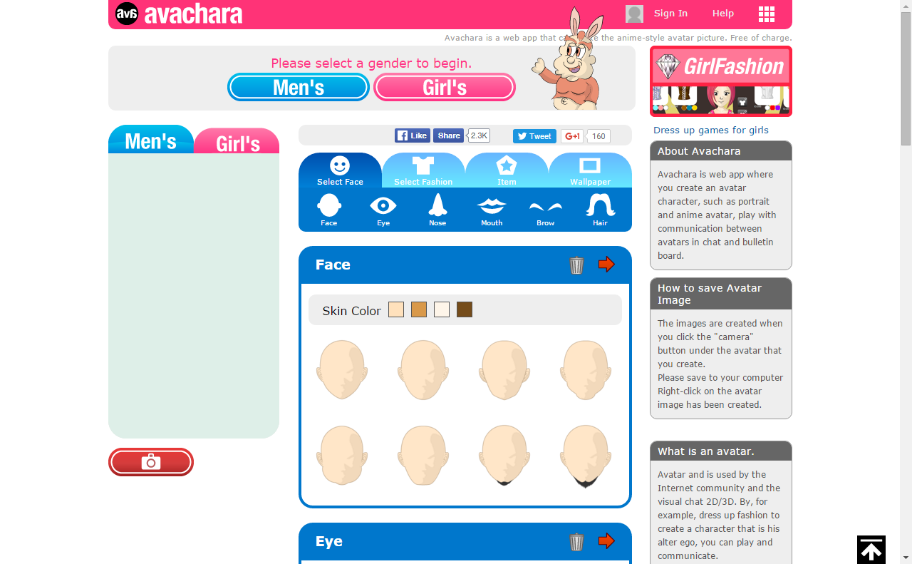 Free Anime Avatar Maker Avachara is a web app that can