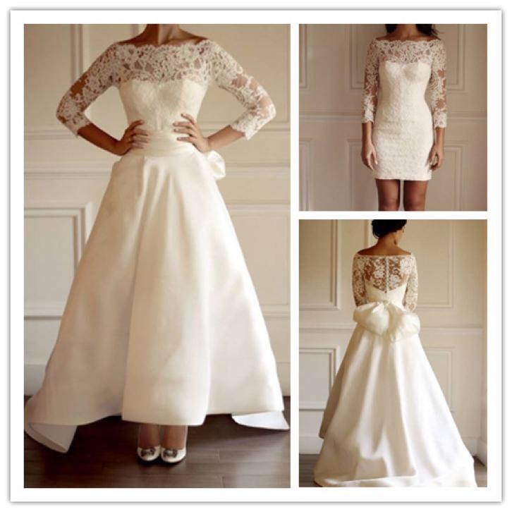 2 In 1 Trouwjurk.2 In 1 Trouwjurk Afneembare Rok Mooie Bruidsjurk Op Maat Wedding