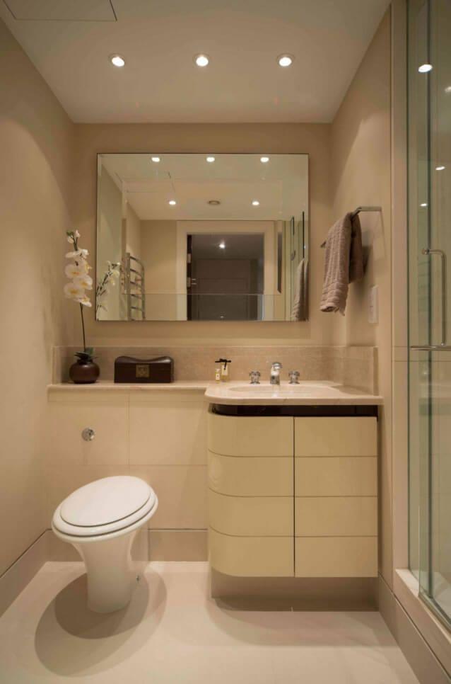 banheiro pequeno decorado porcelanato  banheiros  Pinterest -> Cuba Para Banheiro Pequeno