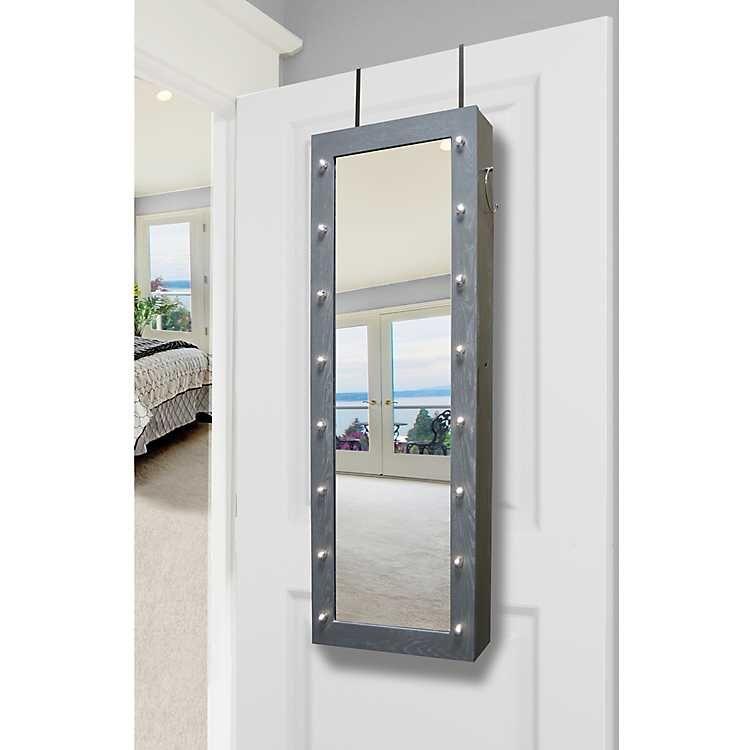 Gray Marquee Armoire Mirror | Kirklands | Jewelry armoire ...