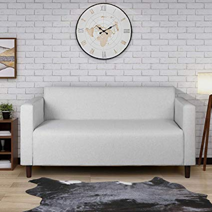 Amazon Com Modern Minimalist Short Back Loveseat Sofa Upholstered Couch Suitable For Living Room Bedroom Office Upholstered Sofa Upholstered Couch Love Seat
