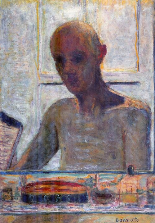 Pierre Bonnard Portrait Of The Artist In The Bathroom Mirror