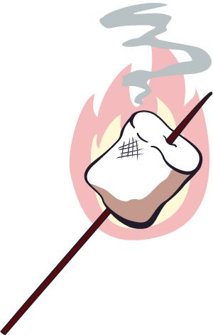 Campfire Marshmallow Clipart Free Images
