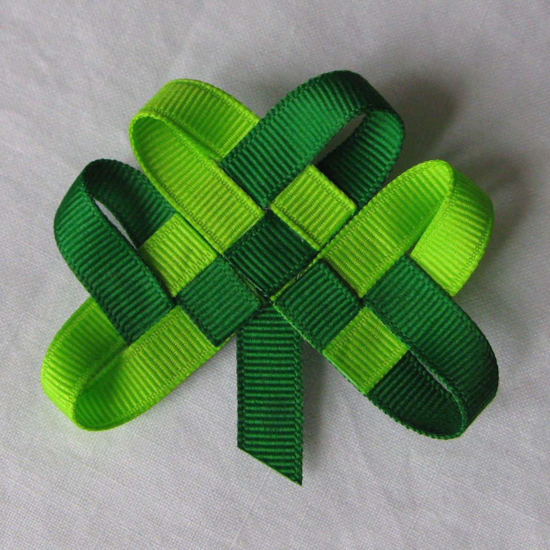 Shamrock LAPEL PIN or HAIRCLIP St Patrick's Day Irish