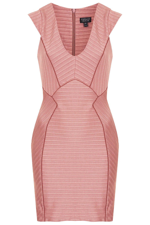 Ribbed Bandage Bodycon Dress - Dresses - Clothing - Topshop USA ...