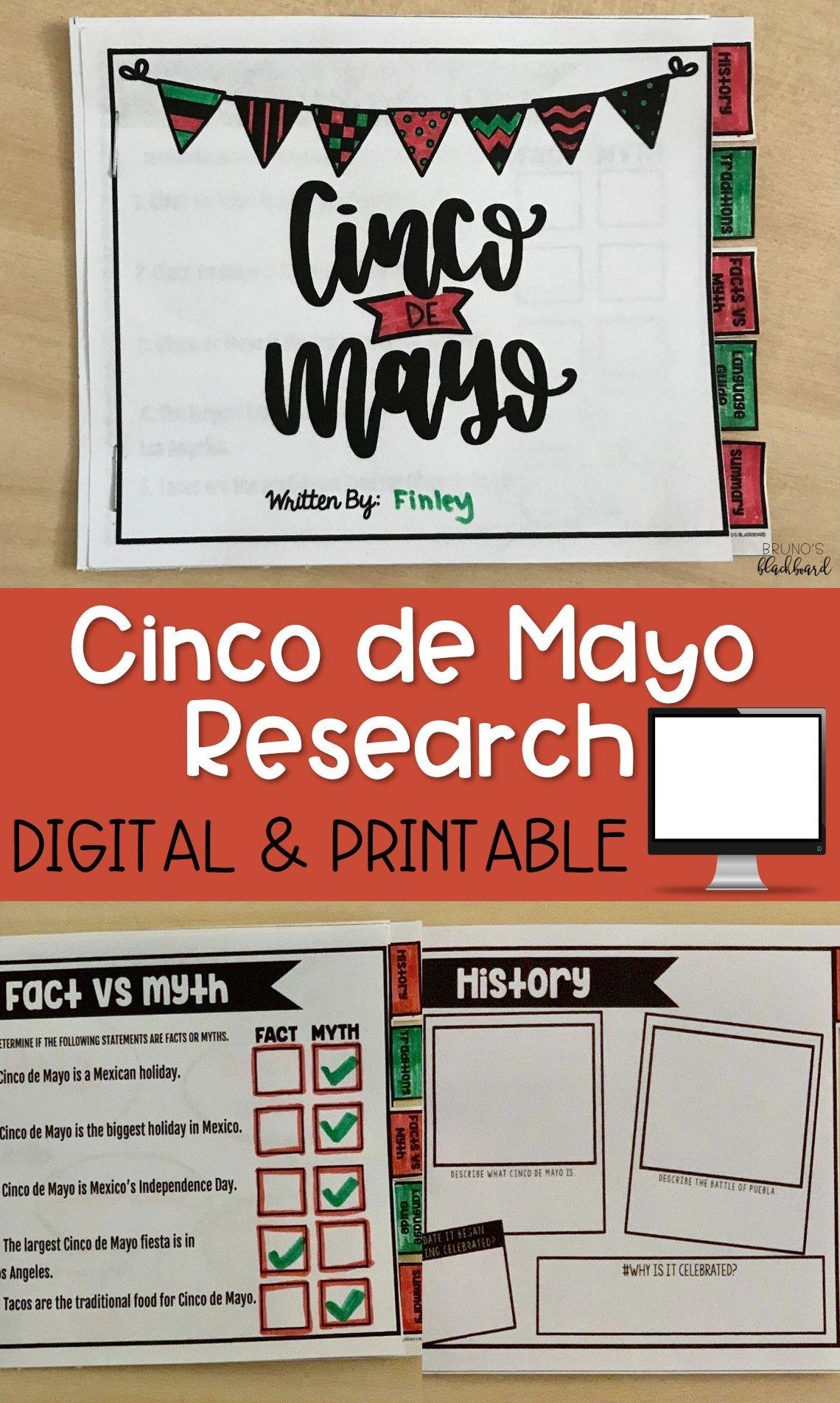 Cinco De Mayo Research Activity Report