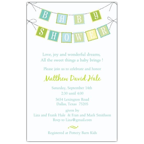 Baby Shower Banner Blue Invitations PaperStyle Baby Shower - how to word baby shower invitations