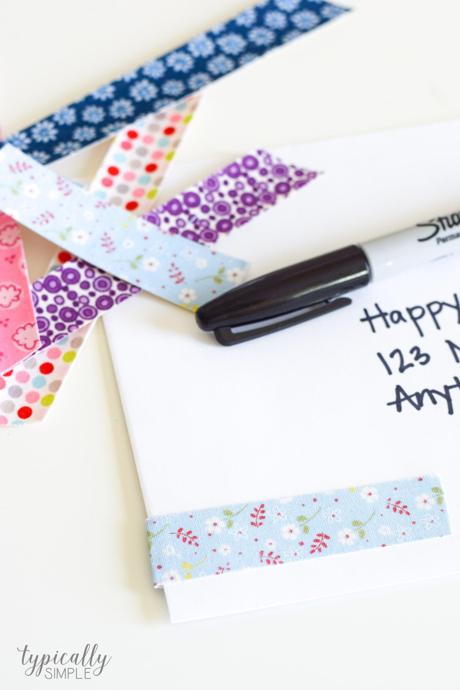 DIY Fabric Tape Tutorial #fabrictape