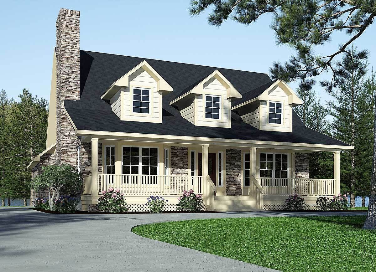 Plan 3087d Refined Country Home Plan Country House Plans House Plan With Loft House Plans Farmhouse