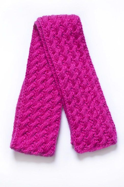 Reversible Cable Scarf Knitting Pattern Scarf Pinterest