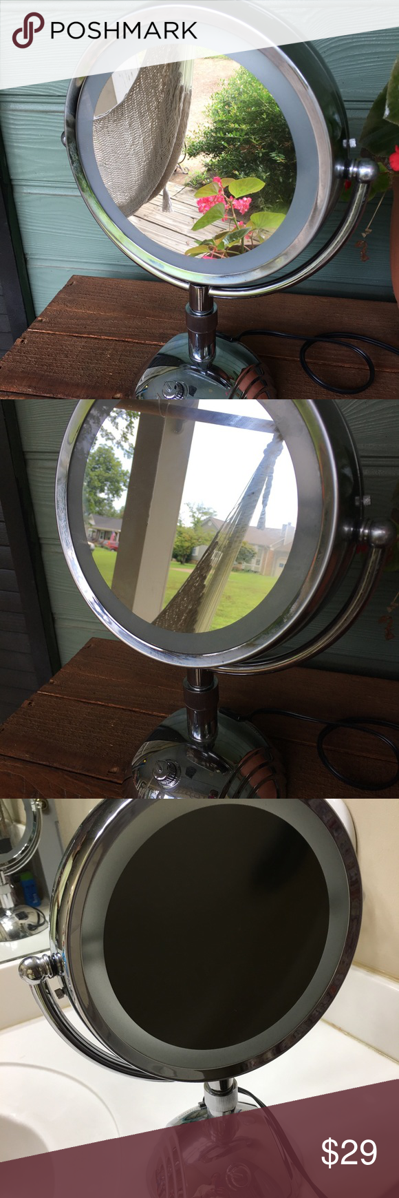 JilBere Lighted Makeup Mirror Great condition-Just no ...