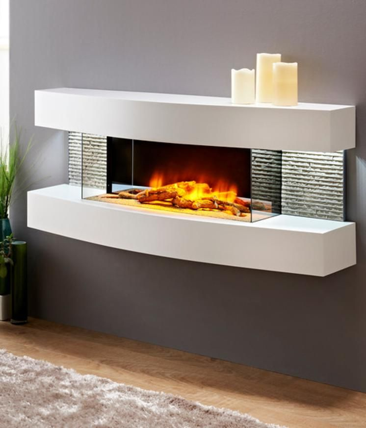 Evolution Fires Miami Curve Wall Mount Electric Fireplace In 2019