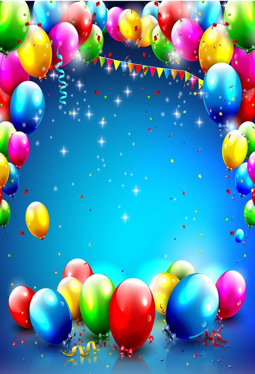 Surrounding Balloons Background For Party Idaes And Baby Shower