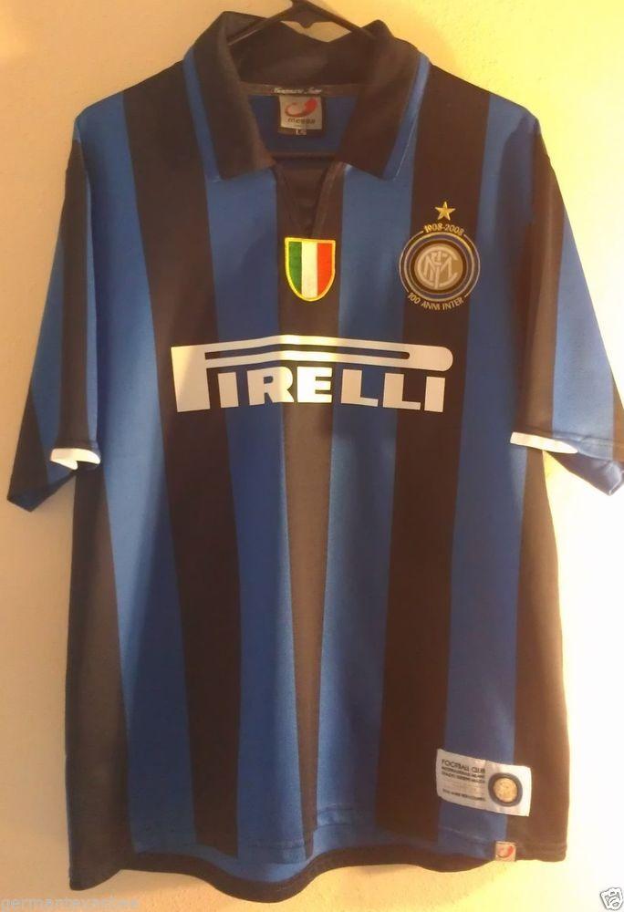 Italian Soccer Jersey FIRELLI 100 Anni Inter Football Club Milano Size L  #MeggaSports #Italy