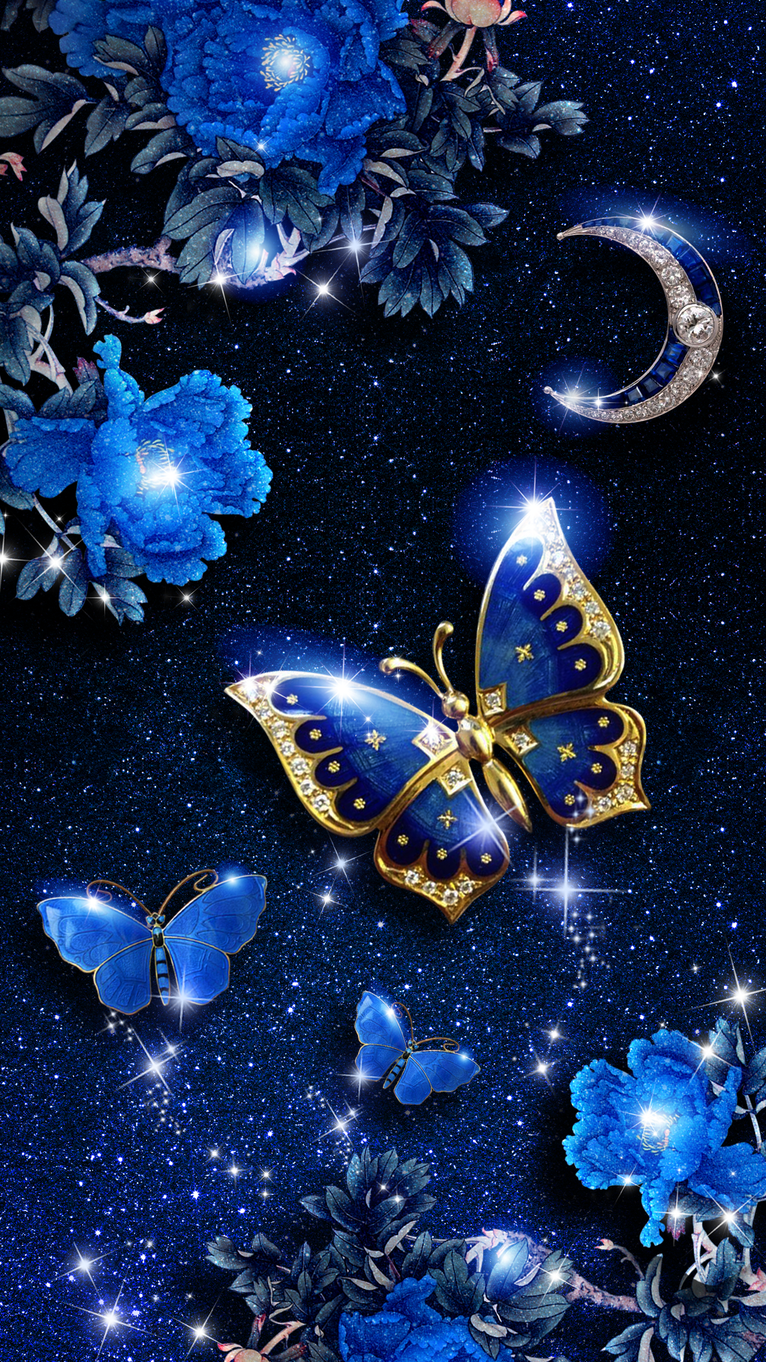 Elegant Blue Butterfly Live Wallpaper Android Live